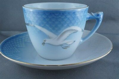 B and G Bing and Grondahl Seagull Cup and Saucer #102