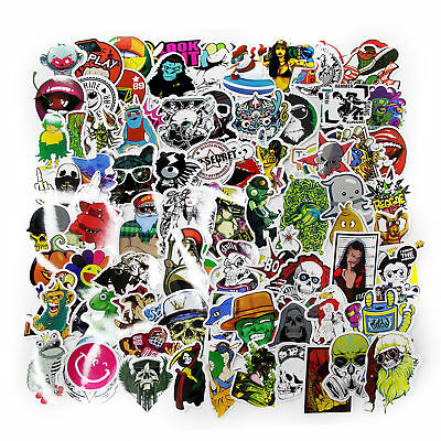 100 X Random Vinyl Decal Graffiti Sticker Waterproof Bomb Skate Laptop Stickers