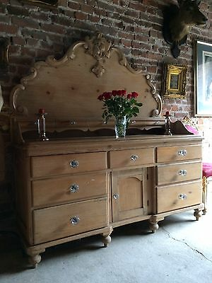 Fabulous Antique Lancashire Dresser Sideboard Solid Pine Victorian 19th Century