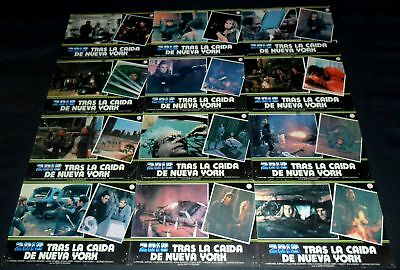 2019 After the Fall of New York ORIGINAL SPAIN LOBBY CARD SET Post Apocalyptic
