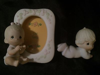 Precious Moments *BABY Lot of 2* Frame, Baby Collectible, Figurines, Porcelain