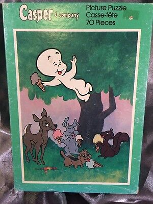 ORIGINAL RARE Casper The Friendly Ghost Puzzle *70 Pieces* Vintage 1960s/1970s