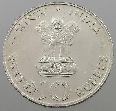 India 10 Rupees 1970 Proof   #lr 657