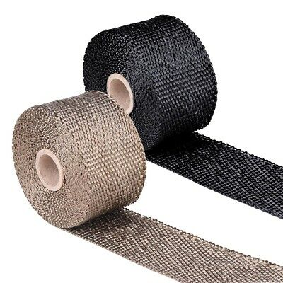 Exhaust Heat Wrap - 5m x 50mm Fibreglass Insulation Tape 6 Stainless Steel Ties