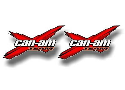 "2 Team Can-Am Racing Decals RED Graphics 3""x5.5"" Spyder RT ST SM5 SM6 Limited"