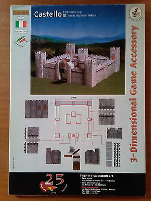 3D - Dimensional Game Accessory - CASTELLO - CASTLE - miniature war game fantasy