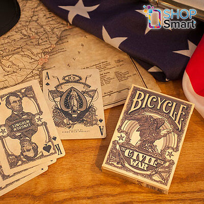 Bicycle Civil War Union Confederate Blue Playing Cards Deck Poker Magic Tricks
