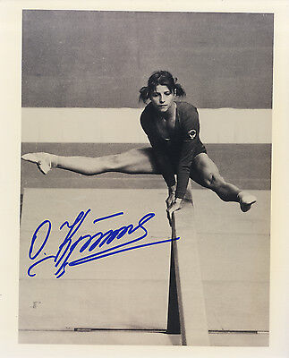 Olga Korbut '1972 and 1976 Olympic Gold medal winning Gymnast' Signed Photo.