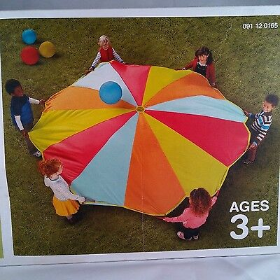 """9 FT 10"""" Play Parachute - Circo - 3 to 12 Children to Play - Good Condition"""