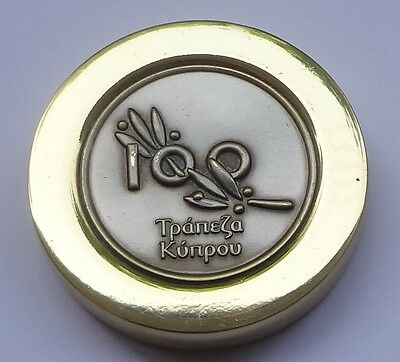 Bank of CYPRUS 100 Branches in Greece Commemorative Paperweight # Free Shipping