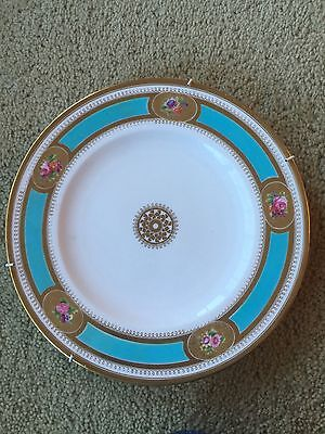 Vintage Antique Hand Painted Plate With Stand