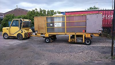 5x Ex airport luggage trailer's and diesel engine tug ideal for many uses direct