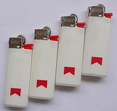 Lot 4 Vintage MARLBORO Bic Lighters Classic NEW Old Stock # Free Shipping