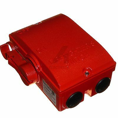 40A firefighter / fireman power supply isolator switch IP65 3 pole & neutral red