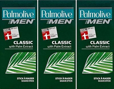 THREE PACKS of Palmolive For Men Shave Stick 50g