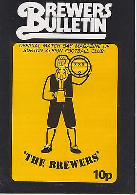 BURTON ALBION v MORECOMBE ~ NORTHERN PERMIER LEAGUE ~ 19 APRIL 1980