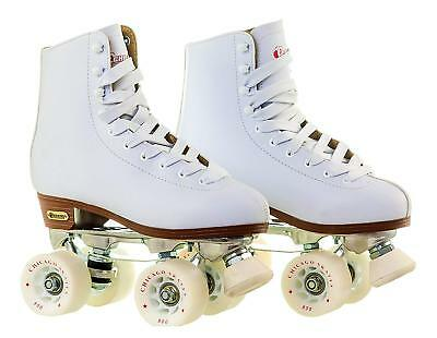 Chicago Women's Leather Lined Rink Skate (Size 10) , WHITE