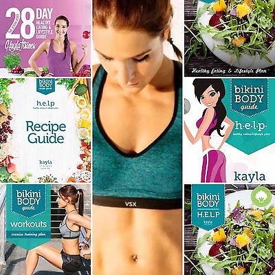 Kayla Itsines New 2017 28 Day Healthy Eating Guide + 6 Bikini Body Guides