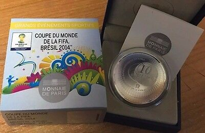 France 2014 Coupe Monde Fifa 10 euro Silver Proof - Football World Cup Brasil €