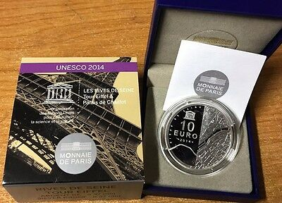France 2014 UNESCO Eiffel Tower 10 euro Silver Proof - Francia argent € silber