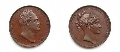William Iv & Queen Adelaide 1831 Coronation Medal - By W.wyon
