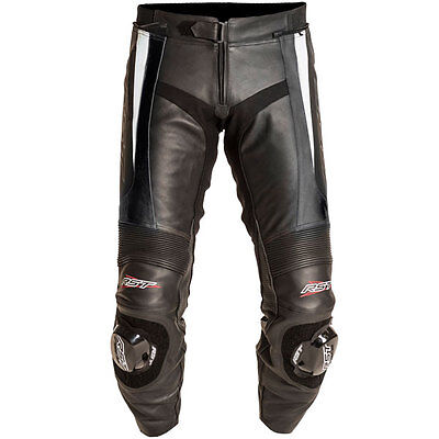 RST Blade White Leather Motorcycle Motorbike Sports Race Trousers Pants
