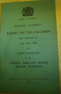 Railway Accident Report, Kings Langley 1963