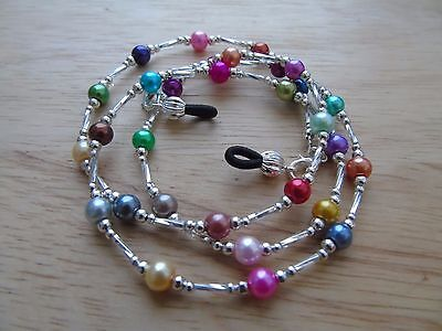 Handmade Multi-Coloured Beaded Spectacle / Glasses Chain / Necklace.
