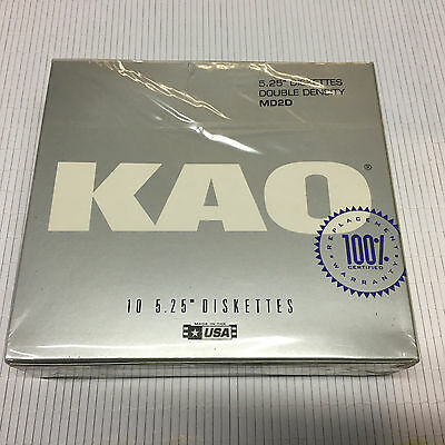 "5 1/4""(5.25"") New Box 10 KAO MD2D Disk Floppy for Atari 800/XL/XE MADE IN USA"