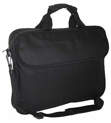"15.6"" Widescreen Padded Laptop Bag Notebook Macbook Carry Case Shoulder Strap"