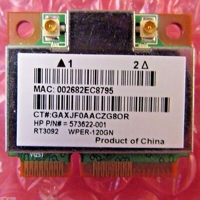 Genuine HP Touchsmart 300 802.11b/g/n WLAN Wireless Mini Card 573622-001 RT3092