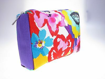 CLINIQUE Cosmetic Make up Bag Case Travel Toiletry *Spring Flower