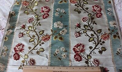 French Antique 19thC Silk, Chenille & Cut Velvet Home Fabric Sample~18thC Loom