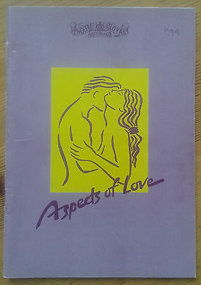 Aspects of Love programme Theatre Royal Nottingham 1994 Kevin Colson Anne Wood