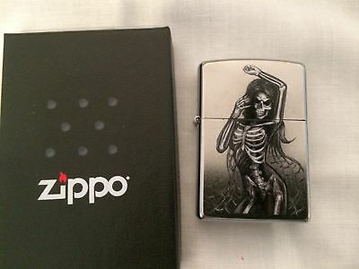 Personalised Genuine Zippo Lighters Day of the Dead designs, free engraving,