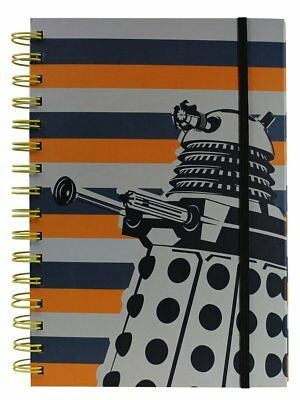 Doctor Who A5 Dalek Stripe Notebook - Spiral-bound with band closure - NEW