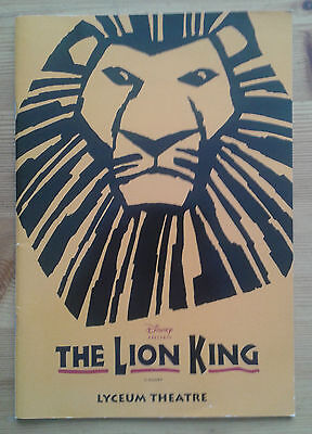 Disney The Lion King theatre cast programme Lyceum Theatre March 2000 ed.