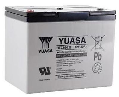Yuasa 80Ah Golf Trolley / Mobility Scooter Battery, Replaces 75Ah