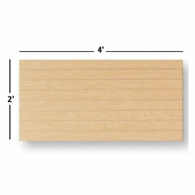 NEW Slatwall Easy Panels, Set of 2 PIECES, 2' H x 4' W Maple FREE SHIPPING