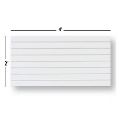 NEW Slatwall  Panels, Set of 4 PIECES, 2' H x 4' W White FREE SHIPPING