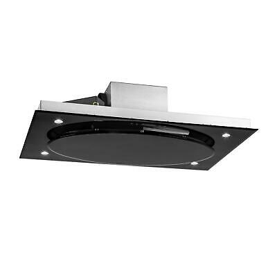 Klarstein Stainless Steel Extractor Cooker Hood Kitchen Ceiling Mount Touch Led