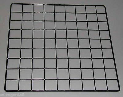"MINI Grid Cube Wire Panel Binning Cubbie Vinyl Dip Black 14""x14"" Lot of 50 NEW"