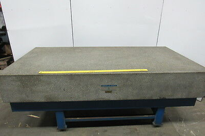 "ROCK OF AGES 96""x48""x14"" Granite Surface Inspection Plate W/Stand Recent Cert!"