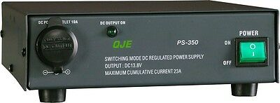QJE PS23SWI 23a POWER SUPPLY 12v CIG PLUG Switch Mode Fan Cooled PSU 13.3-14.5