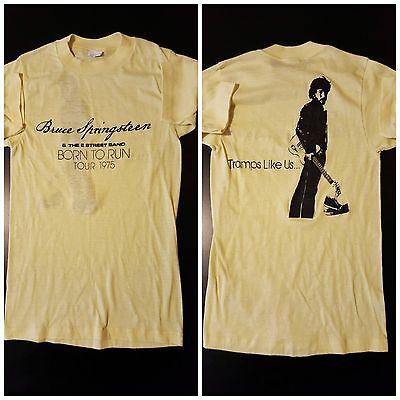 Vintage 70s 1975 Small Bruce Springsteen Born To Run Tramps Concert Tour T-Shirt