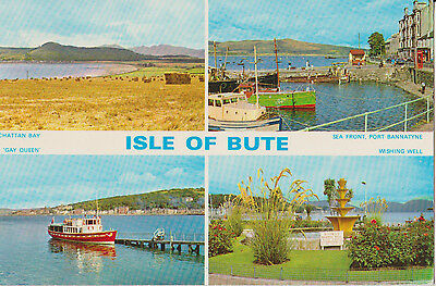 Multi View Colour Postcard Isle of Bute Scotland Dennis R.0551 Posted 1978
