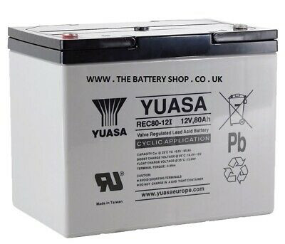 Yuasa 80Ah Golf Trolley / Mobility Scooter Battery VRLA Gel