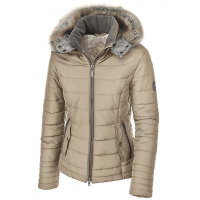 Pikeur Mara Short Coat EU 42 UK 14 white pepper ladies hooded padded jacket