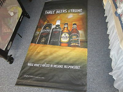 """Vintage Man Cave GUINNESS Beer Sign Scroll 71"""" L x 36"""" W"""