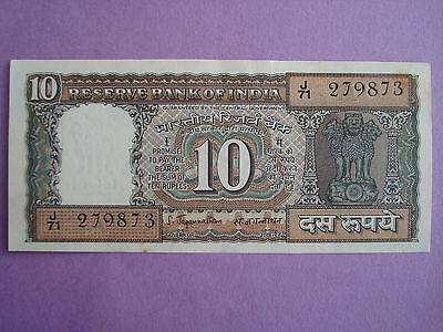 INDIA  10 Rupees 1970 **AU** Banknote